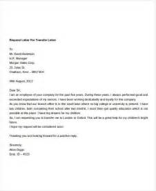 Transfer Request Letter To Hr Employee Transfer Letter Template 8 Free Word Format