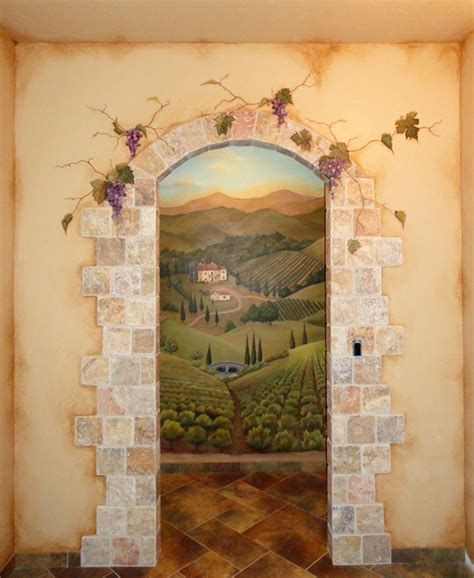 tuscany wall murals tuscan door mural pilotproject org