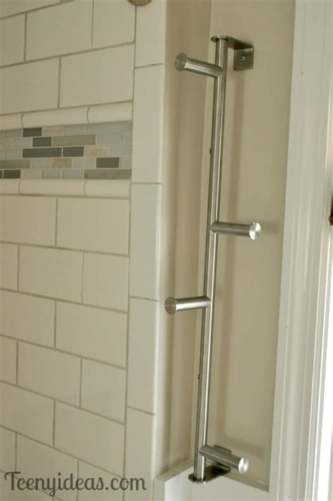 we now have a towel bar teeny ideas