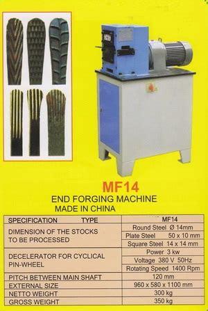 Gergaji Besi Eye Brand 14 mf14 end forging machine products of mesin logam steel