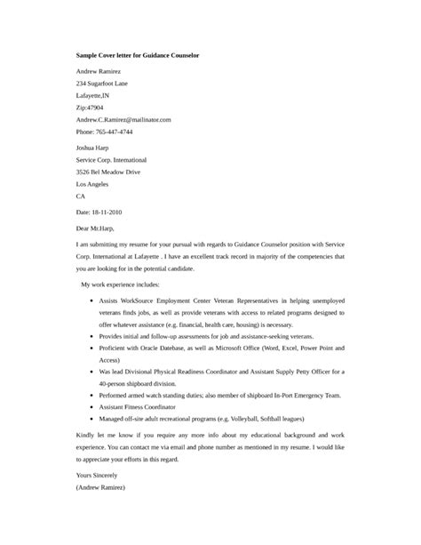 cover letter sample for youth counselor professional resumes