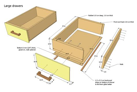 how to build a desk with drawers router plans