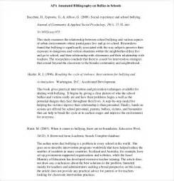 free apa bibliography template 10 simple annotated bibliography templates free sle