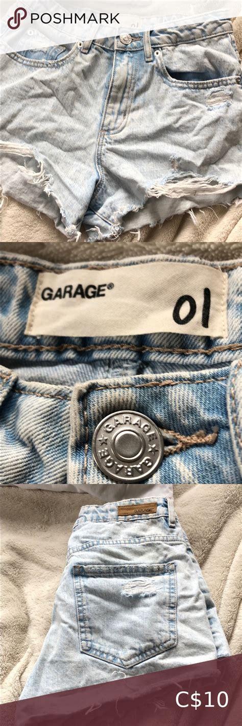 garage mom jean distressed shorts   distressed