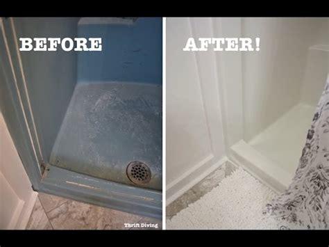 diy shower  tub refinishing   paint   shower thrift diving youtube