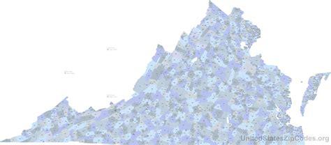 virginia zip code map printable zip code maps free