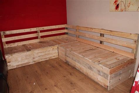 how to build a sectional diy pallet sectional sofa with storage