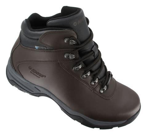 mens walking boots leather hi tec eurotrek 3 iii waterproof mens leather walking