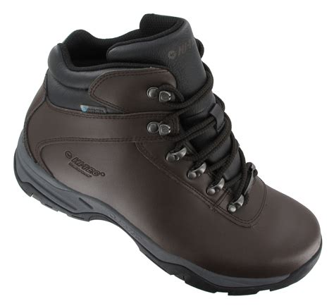 mens hi tec walking boots hi tec eurotrek 3 iii waterproof mens leather walking