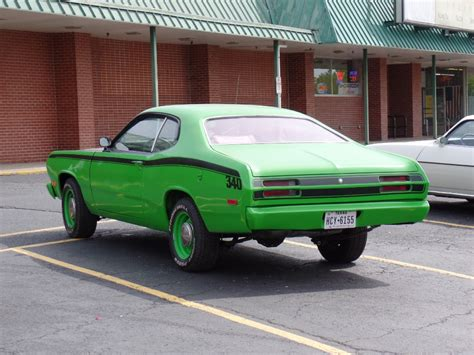 1972 plymouth duster 1972 plymouth duster sub lime green 340 engine driver
