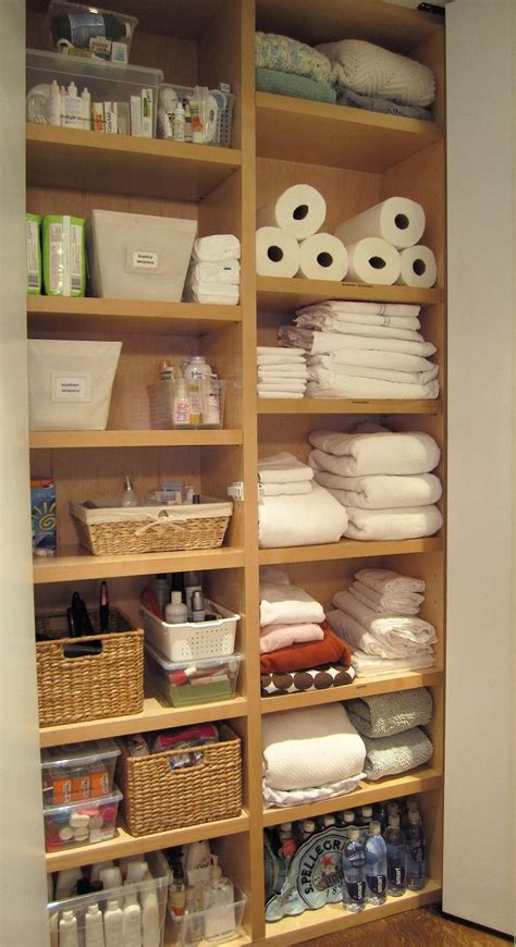shallow linen closet organization storage ideas pinterest 320 best home linen closet images on pinterest