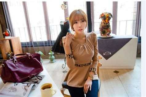 Atasan Import Apricot Hitam Cotton Lookbook Murah atasan wanita korea terbaru 2014 model terbaru jual murah import kerja