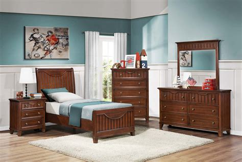 Youth Bedroom Sets by Homelegance Alyssa Youth Bedroom Set Warm Brown Cherry