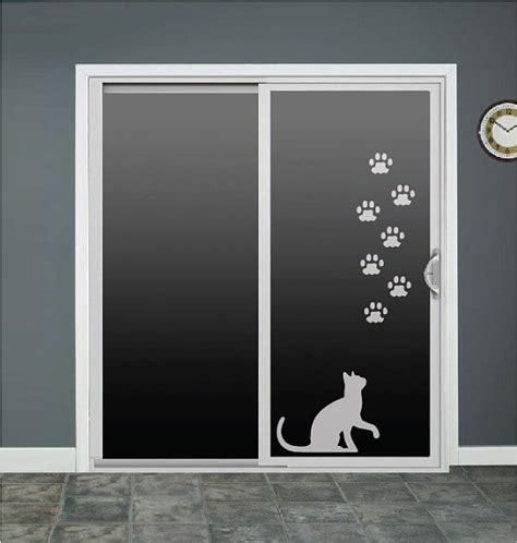 Cat Doors For Windows Decor Cat Paws Animal Glass Door Decals Sliding Door By Roomsbyangie