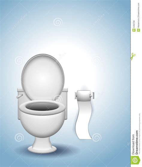 Toilette Mit Bd by Toilette Und Toilettenpapier Stock Abbildung Bild 5402790