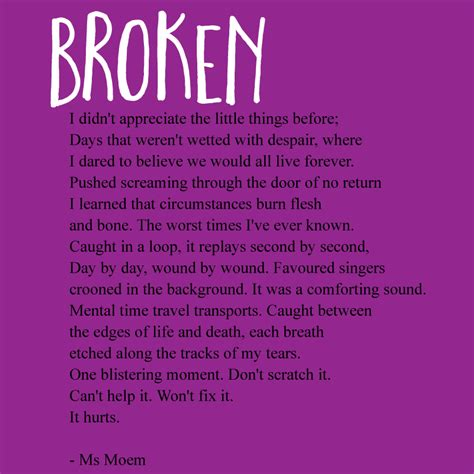 rhymes with comfort broken a short rhyming poem by ms moem on the topic of