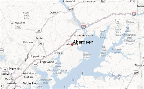 maryland map aberdeen aberdeen maryland location guide