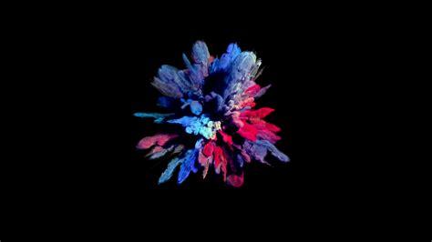 color powder explosion color smoke powder explosion on black cg motion