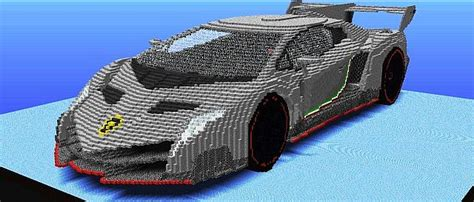 lamborghini minecraft lamborghini veneno with 70 000 tnts minecraft project