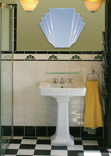 art deco style bathroom mirrors the manhattan mirror co arlena