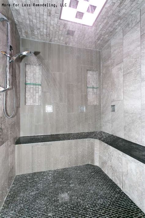 How Much To Install A Walk In Shower by A Modern Walk In Shower With A Large Shower Bench And