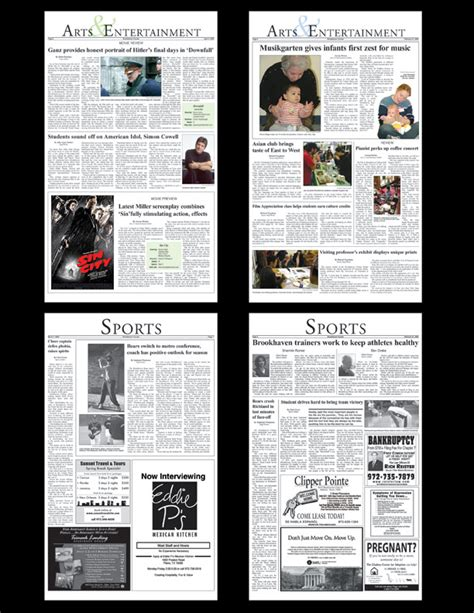 layout newspaper program newspaper article layout