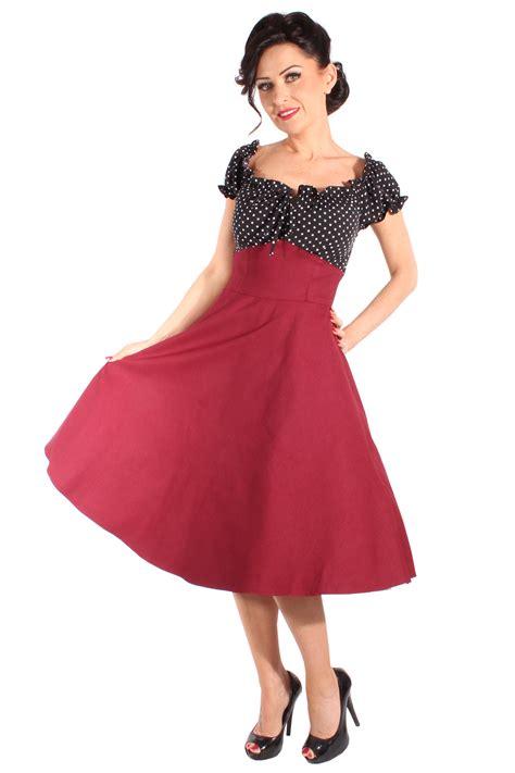swing kleid polka dots 50er polka dots rockabilly schleifchen