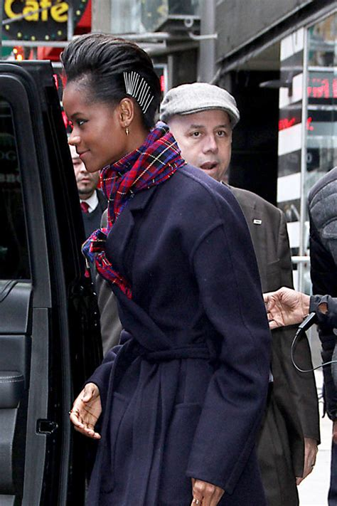 letitia wright good morning america letitia wright braves the ny chill for quot good morning