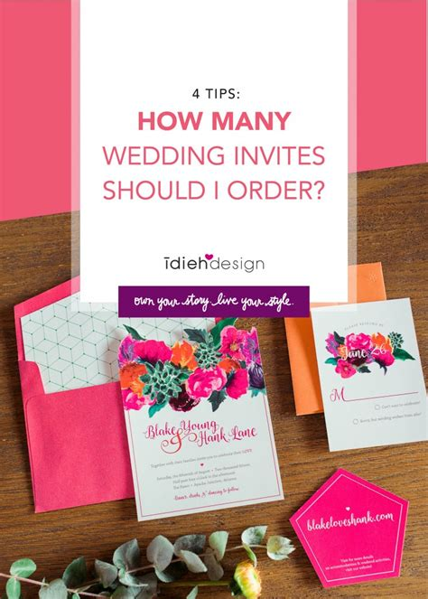 how many wedding invites should i order