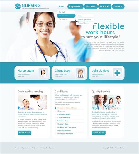 medical website template 33776