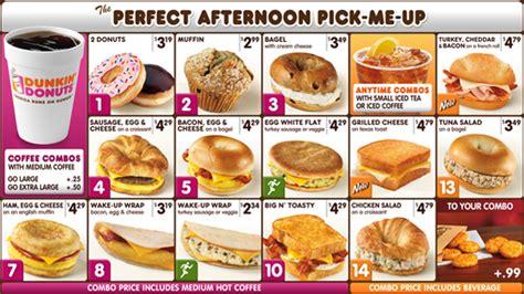menu dunkin donuts dunkin donuts digital menu on behance