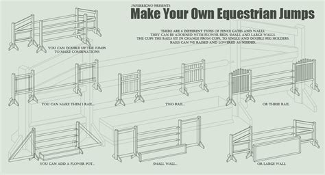 make your own l make your own horse jumps by jnferrigno on deviantart