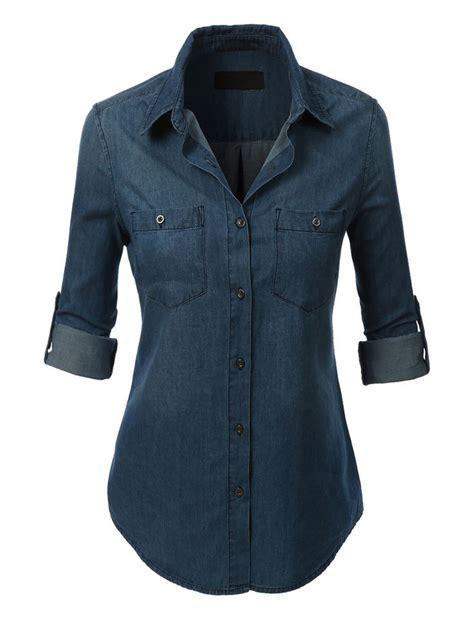 light denim shirt womens womens lightweight button denim jean shirt with