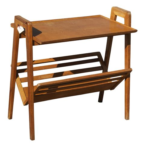 Magazine Table Rack by Vintage Magazine Rack And Table Ebay