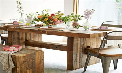 Rustic Clearance Kitchen Table And Chairs West Elm West Elm Emmerson Dining Table Reviews