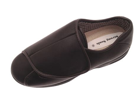 Slippers 12 Additional mens diabetic comfort shoes wide fit adjustable velcro shoes size uk 6 12 ebay
