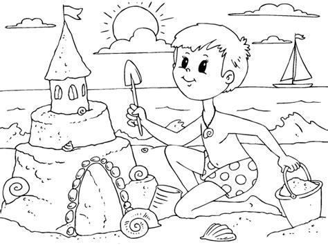 imagenes para colorear verano colorear castillo de arena dibujos de verano para