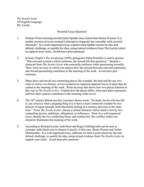 Ap Scarlet Letter Questions scarlet letter essay docoments ojazlink