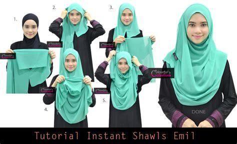 Jilbab Instan Marsya Fashion Muslimah instant shawl 2 loops tutorial pinless hijabs