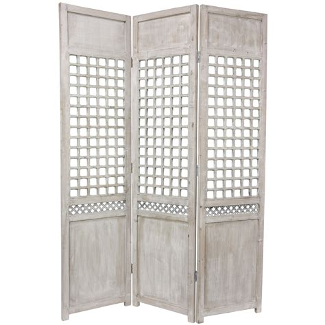 Lattice Room Divider Furniture 6 Ft Open Lattice Room Divider Ebay