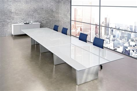 Glass Conference Table Large Glass Steel Conference Table Ambience Dor 233