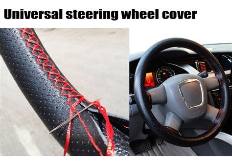 Setir Cover Mobil Universal Steering Wheel Cover And Black universal car steering wheel cover stitched 38cm leather steering wheel cover funda volante