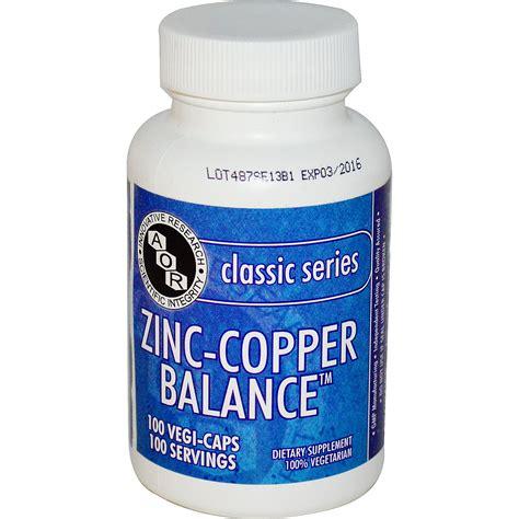 supplement zinc and copper advanced orthomolecular research aor classic series zinc