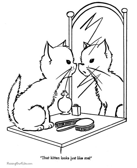 preschool coloring pages cats free printable cute kitten coloring page kindergarten