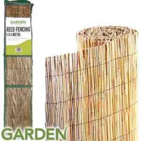 reed garden fencing  home bargains      home
