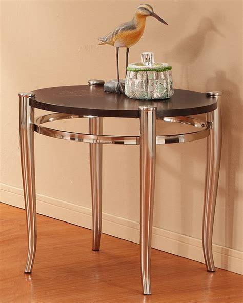 brushed nickel end table homelegance coffey end table brushed nickel 3318 04
