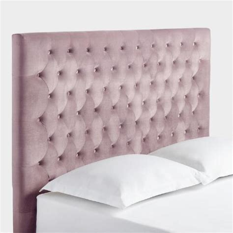 pink tufted headboard queen blush jaelyn tufted queen headboard world market