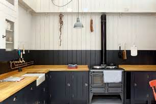 How To Repaint Kitchen Cabinets White Navy White Stripe Paint Tongue Amp Groove Panelling