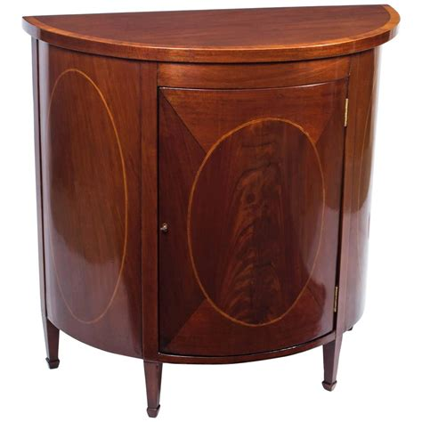 Half Moon Chest Of Drawers by Antique Half Moon Sheraton Mahogany Inlaid Commode For