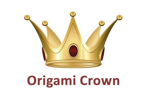 how to make an origami crown